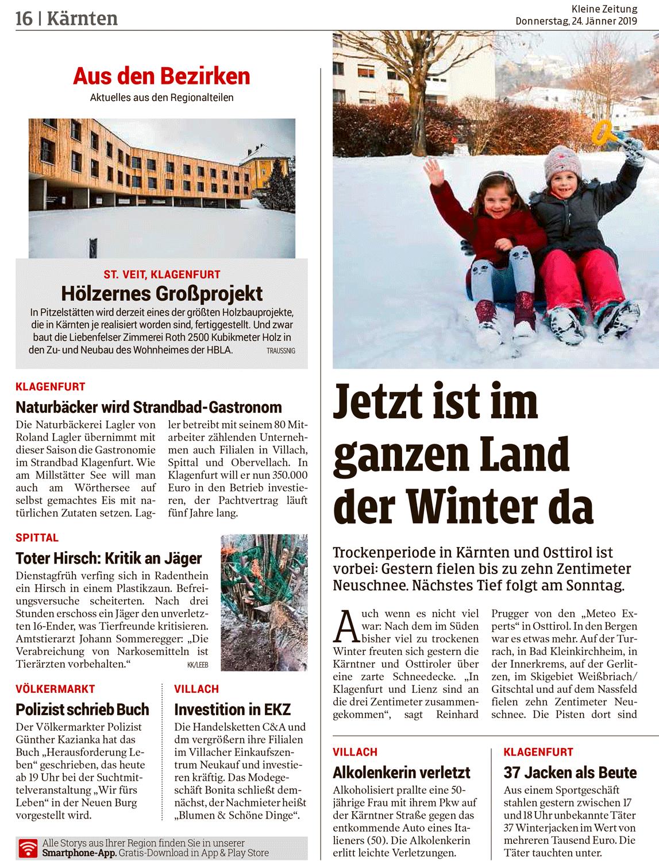 Kleine Zeitung - Bericht - Pitzelstätten